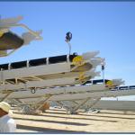 Réalisation de 4 sauterelles mobiles de longueur 20 m.